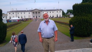 Brendan Price at the ENGO garden party Aras-2-2016