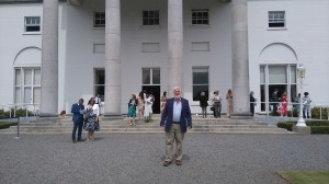 Brendan Price at the ENGO garden party Aras